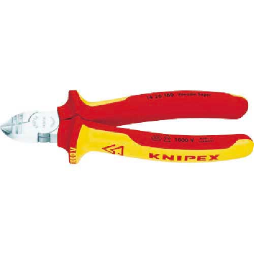 KNIPEX 絶縁穴付きニッパー 1000V 160mm