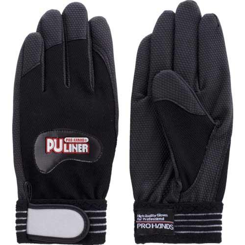 【まとめ買い】富士グローブ 合成皮革手袋 PUライナーアルファ ブラック L 0782【10双入り】