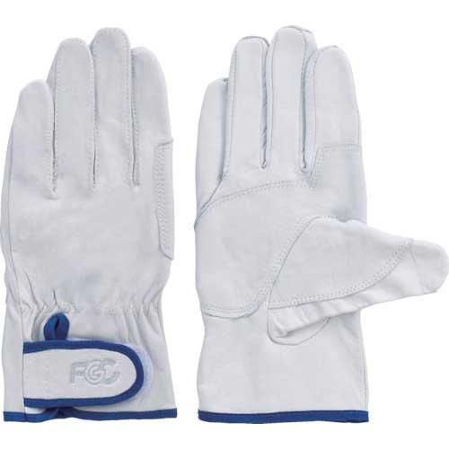 【まとめ買い】富士グローブ 牛本革手袋 F-804 白 L 5804【10双入り】