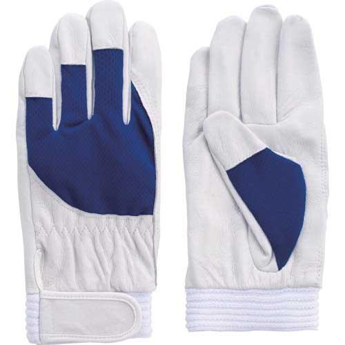 【まとめ買い】富士グローブ 豚本革手袋 F-505 アスリート ブルー L 5872【10双入り】