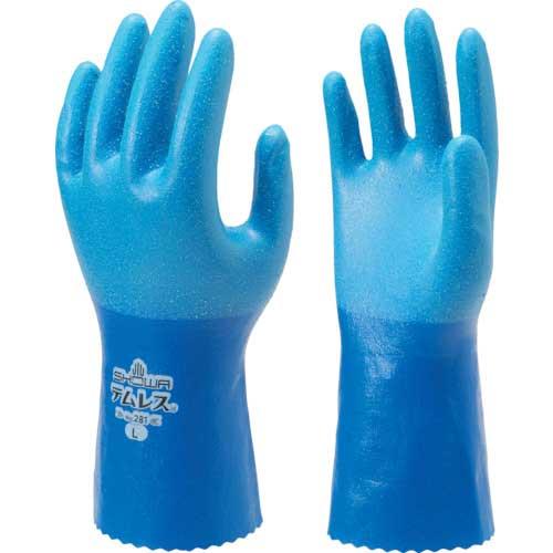 【まとめ買い】ショーワ ポリウレタン手袋 No281テムレス ブルー Mサイズ NO281-M【10双入り】