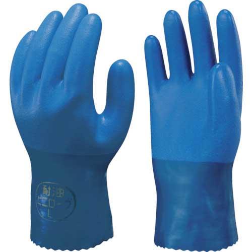 【まとめ買い】ショーワ 塩化ビニール手袋 簡易包装耐油ビニロ−ブ ブルー Mサイズ NO650-M10P【10双入り】