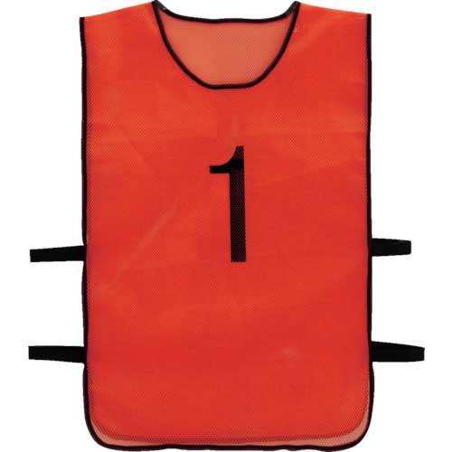 TRUSCO 番号安全ベスト 「1」〜「10」各1枚セット オレンジ TBB-10SET